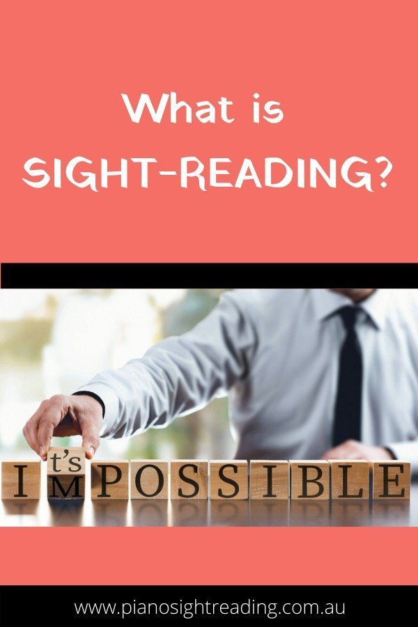what is sight-reading
