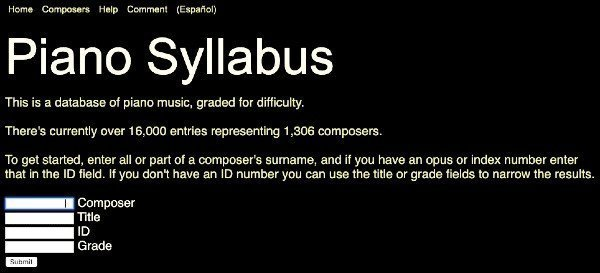 homepage of pianosyllabus.com