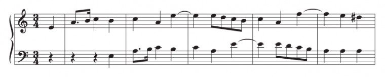 Example of contrapuntal music