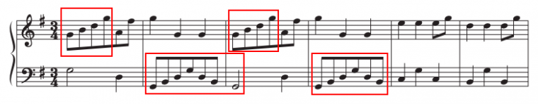 example of arpeggios in a piece of music