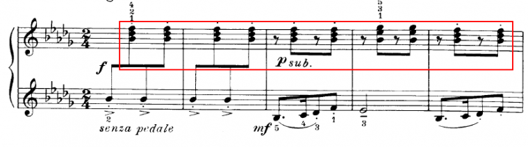 example of chords in a piece of music