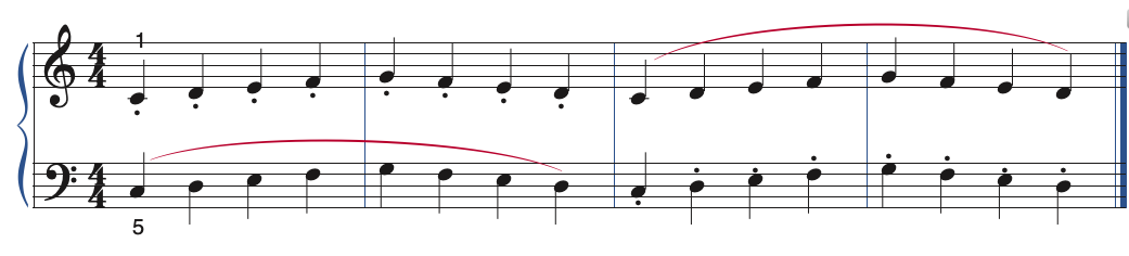 example of a hand independence exercise