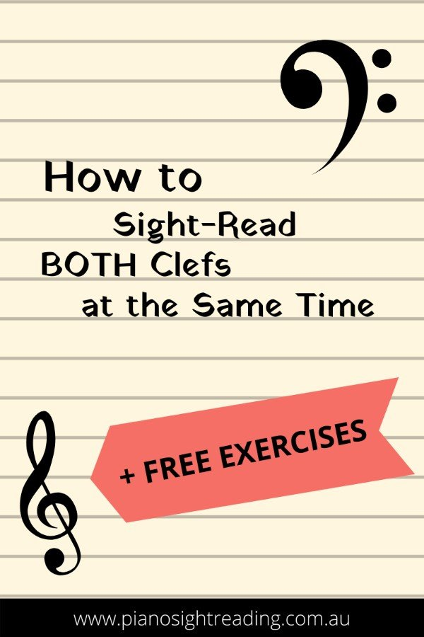 how to sight-read both clefs at the same time