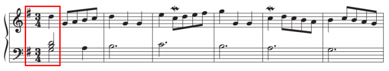 example of a piece in a major key