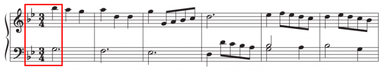 example of a piece in a minor key