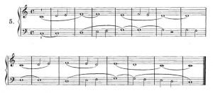 example of easy sight-reading music for both hands