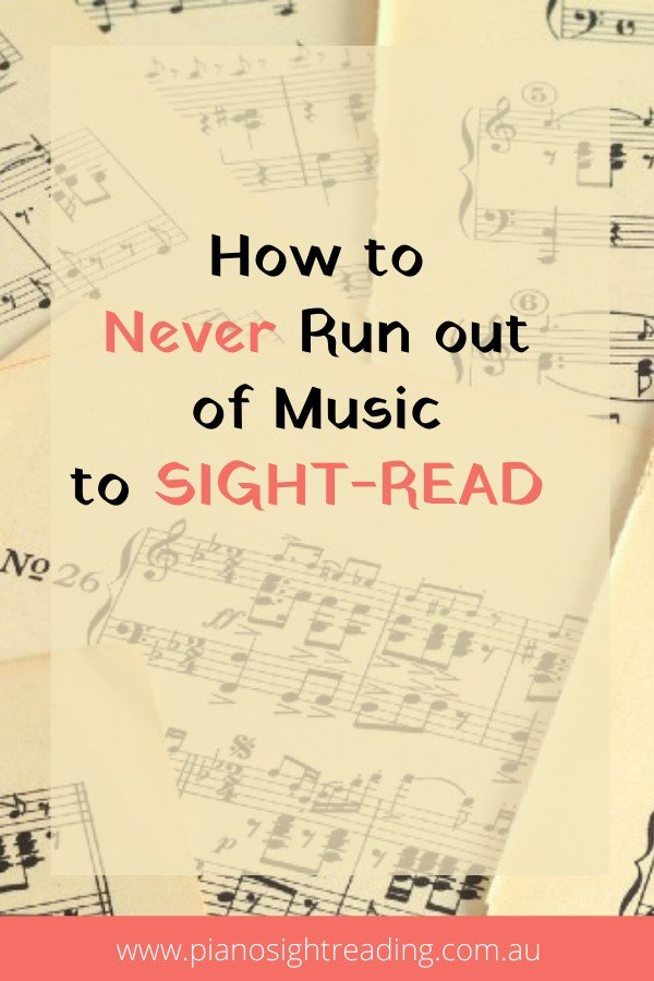 how to always find music to sight-read