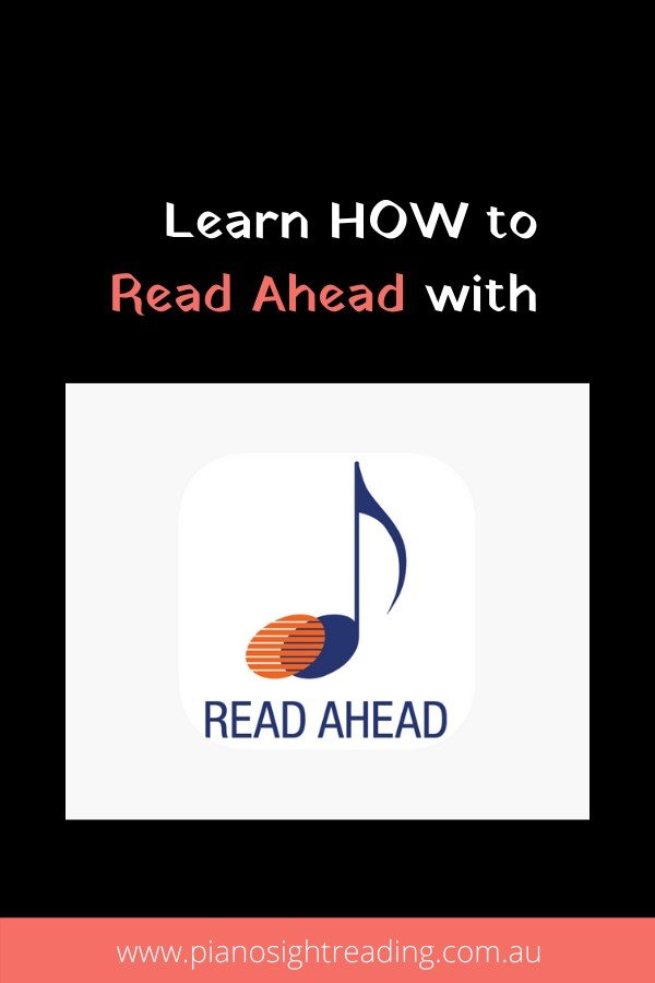 learn how to read ahead when sight-reading