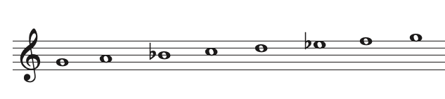 example of a natural minor scale