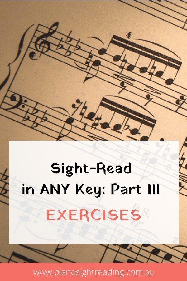 sight-read in any key, piano exercises in all keys