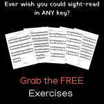 free piano exercises in all keys