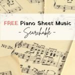 free piano sheet music which is searchable
