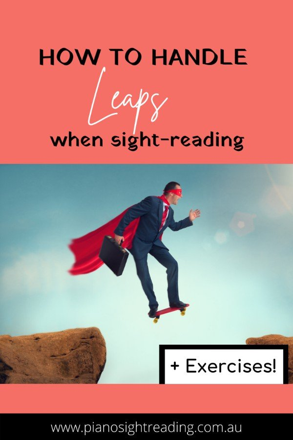 how to handle leaps when sight-reading