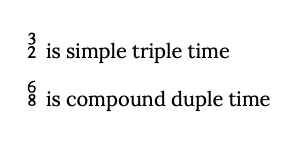 simple and compound time examples