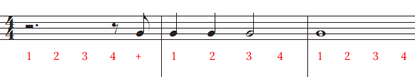 starting with rests