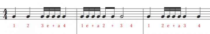 subdividing semiquavers example