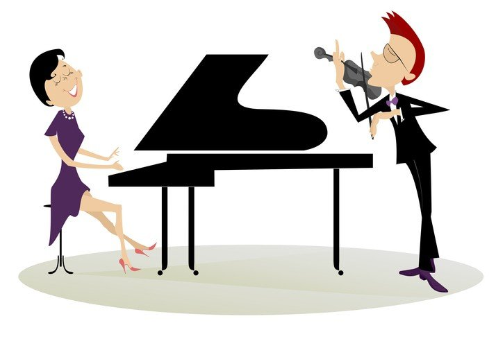 piano accompanist and violinist