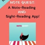 Note Quest app for note-reading and sight-reading