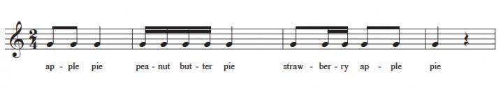 verbalising rhythm