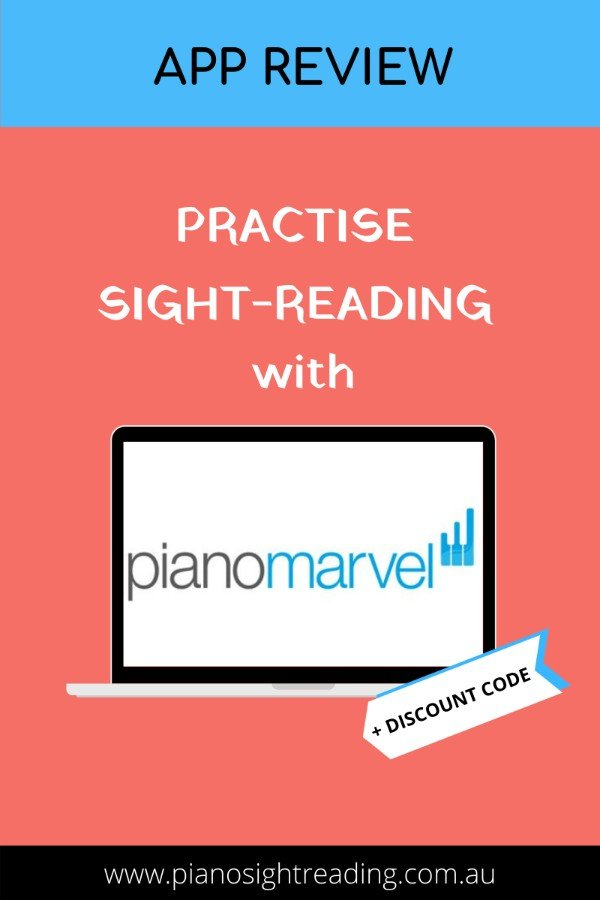 practise sight-reading with Piano Marvel