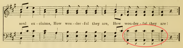 hymn with a large interval