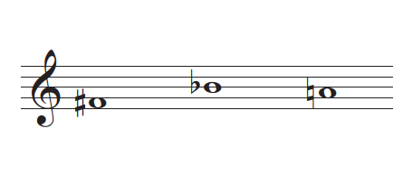 example of accidentals