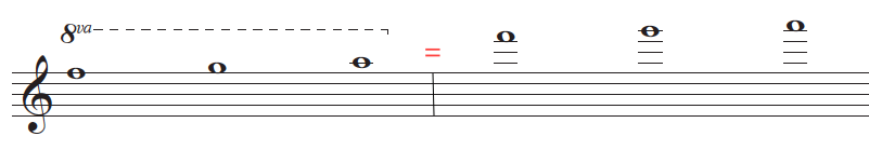example with the octave sign