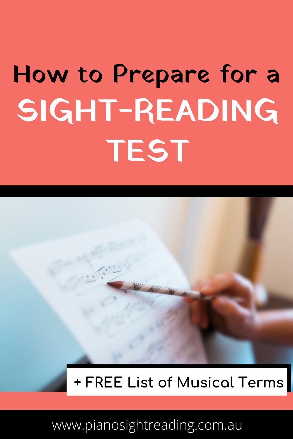 preparing for a sight-reading test