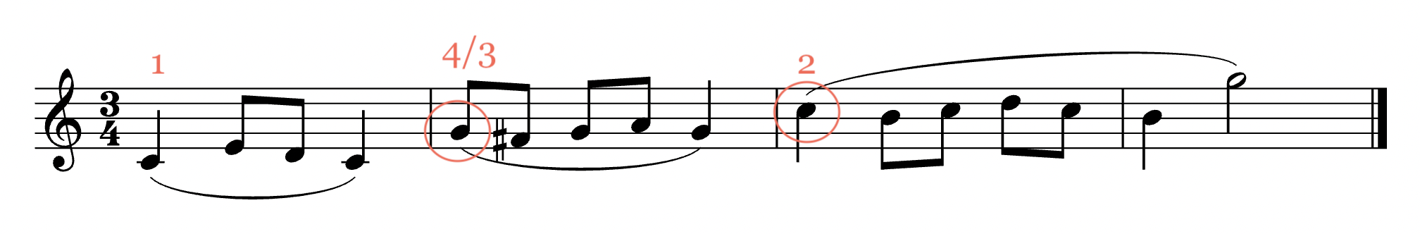 changing hand position at the end of phrases