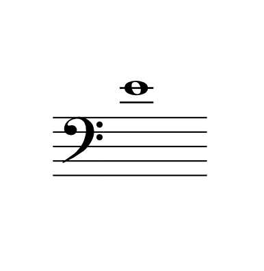 line note with two ledger lines