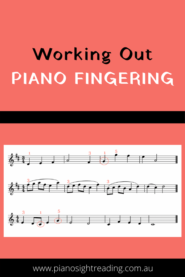 how to figure out piano fingering when sight-reading