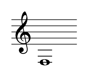 line note with three ledger lines