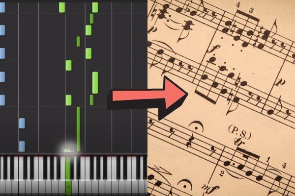 switching from Synthesia to sheet music