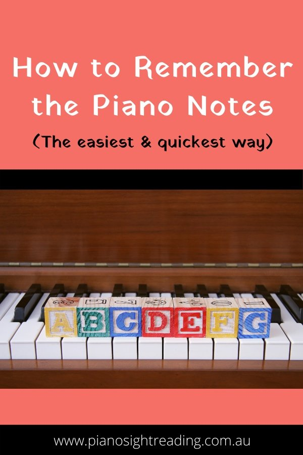 how to remember the piano notes