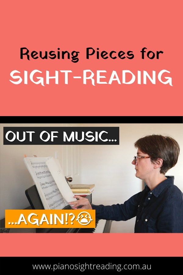 reusing pieces for sight-reading